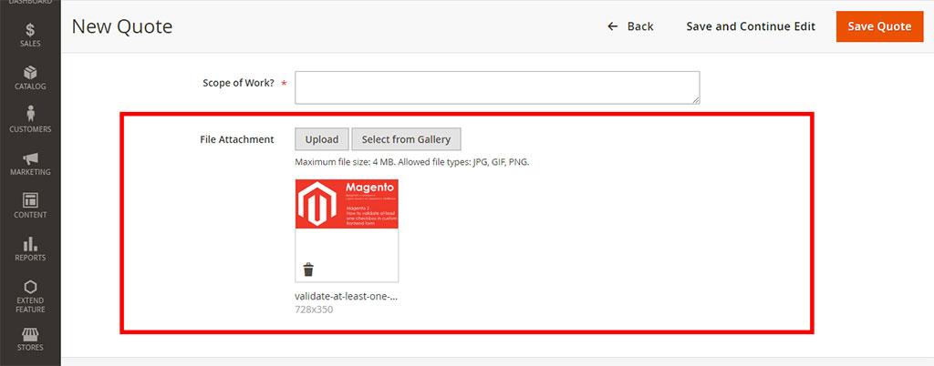 Magento 2 - Admin form UI Component ImageUploader Field